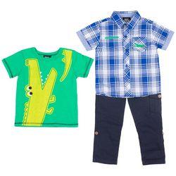 Boys Rock Toddler Boys 3-pc. Alligator Pants Set