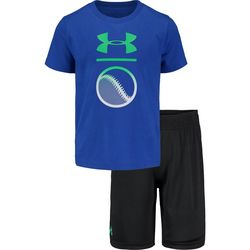 Under Armour Toddler Boys 2-pc. Baseball Tee & Shorts Set