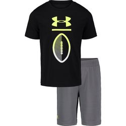 Under Armour Toddler Boys 2-pc. Football Logo Shorts Set