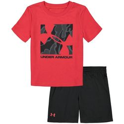 Under Armour Toddler Boys 2-pc. Box Logo Shorts Set