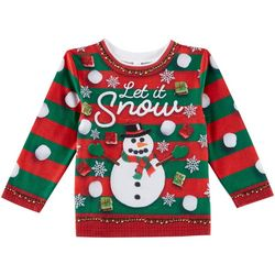 Faux Real Toddler Boys Ugly Christmas Sweater T-Shirt