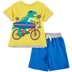 Little Rebels Toddler Boys Cowabunga Dinosaur Shorts Set