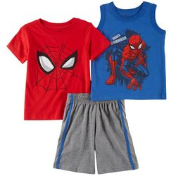 Marvel Spider-Man Toddler Boys 3-pc. Wall Crawler Shorts Set