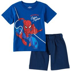 Marvel Spider-Man Toddler Boys Crime Fighter Shorts Set