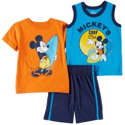 Disney Mickey Mouse Toddler Boys 3-pc. Surf Club Shorts Set