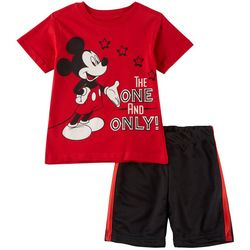 Disney Mickey Mouse Toddler Boys 2-pc. One & Only Shorts Set