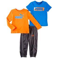 Puma Toddler Boys 3-pc. Active Logo Pants Set