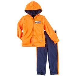 Puma Toddler Boys Logo Track Hoodie Pants Set
