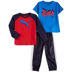 Puma Toddler Boys 3-pc. Active Logo Raglan Sleeve Pants Set