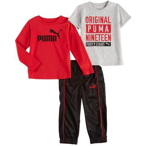 6d4ee2d0ce26 Puma Toddler Boys 3-pc. Active Orignial 1948 Pants Set