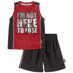 Spalding Toddler Boys I'm Not Here To Lose Tank Shorts Set