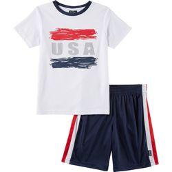 Spalding Toddler Boys 2-pc. USA Shorts Set