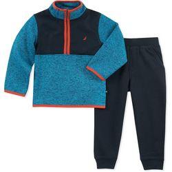 Nautica Toddler Boys Colorblocked Mock Neck Jacket Pants Set