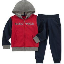 Nautica Toddler Boys Logo Hoodie Jogger Pants Set