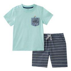 Nautica Toddler Boys Octopus Stripe Shorts Set