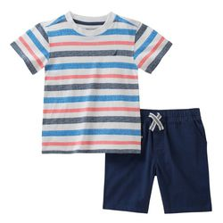 Nautica Toddler Boys Striped Shorts Set