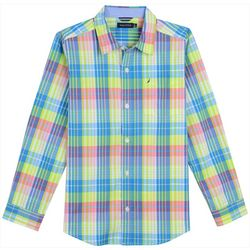 Nautica Toddler Boys James Plaid Button Down Shirt