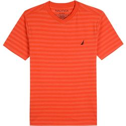 Nautica Toddler Boys Striped V-Neck T-Shirt