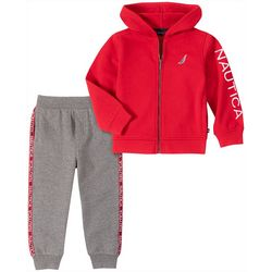 Nautica Toddler Boys Fleece Zip-Up Hoodie & Jogger