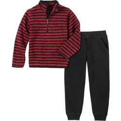 Nautica Toddler Boys Fleece Tee & Jogger Pants Set