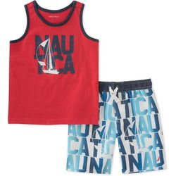 Nautica Toddler Boys Sailboat Swim Shorts Set