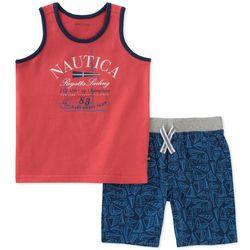 Nautica Toddler Boys Sailboat Tank Shorts Set