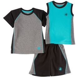 Body Glove Toddler Boys 3-pc. Heathered Active Shorts Set