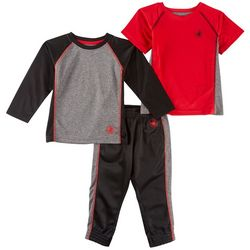Body Glove Toddler Boys 3-pc. Active Heathered Pants Set