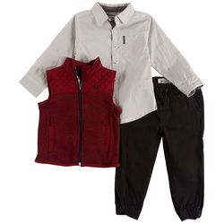 Ben Sherman Toddler Boys 3-pc. Quilted Vest Jeans Set