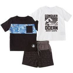 Body Glove Toddler Boys 3-pc. Conquer The Ocean Shorts Set