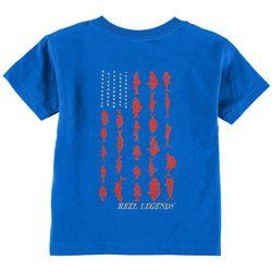 Reel Legends Toddler Boys Fish Flag T-Shirt