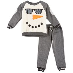 Little Rebels Toddler Boys Too Cool Snowman Sweater Set
