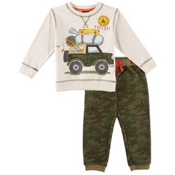 Little Rebels Toddler Boys Explore Camo Pants Set