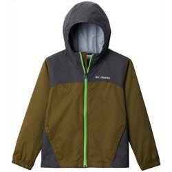 Columbia Big Boys Glennaker Lake Stow-Hood Rain Jacket