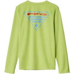 Columbia Big Boys PFG Silhouette Series Long Sleeve Shirt