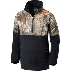 Columbia Big Boys PHG Overlay Half Zip Camo Fleece Jacket