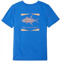 Columbia Big Boys Short Sleeve Solid PFG Offshore