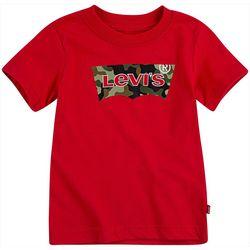 Levi's Big Boys Camo Batwing Logo T-Shirt