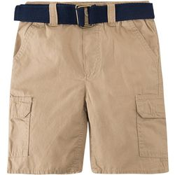 Levi's Big Boys Solid Belted Cargo Shorts