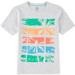 Seven Oaks Big Boys Colorblock Palm Tree T-Shirt