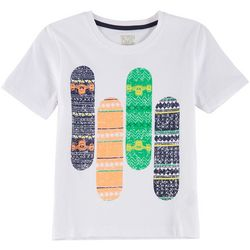 Seven Oaks Little Boys Skateboard Print T-Shirt