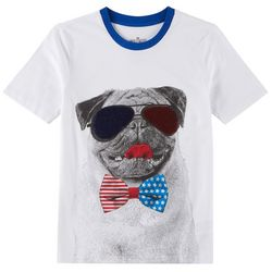 Hollywood Big Boys Reversible Sequin Americana Pug T-Shirt