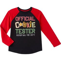 Seven Oaks Big Boys Cookie Tester Long Sleeve T-Shirt