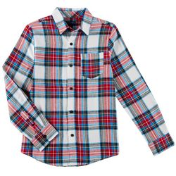 French Toast Big Boys Plaid Button Down Flannel Top