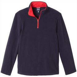 French Toast Big Boys Solid Quarter-Zip Fleece Jacket