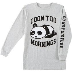 Ocean Current Big Boys Don't Do Mornings Panda T-Shirt