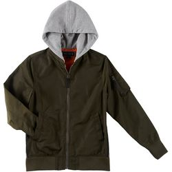 Ocean Current Big Boys Hooded Bomber Jacket