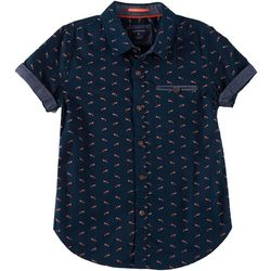 Cactus Boys Big Boys Fox Print Button Down