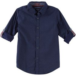 Cactus Boys Big Boys Geometric Button Down Polo Shirt