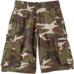 Baileys Point Big Boys Camo Twill Cargo Shorts